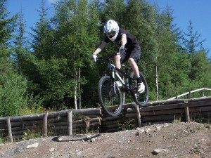 Ryan on the four cross track